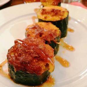 Calabacin relleno de carne