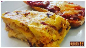 Tortilla jardineray panpizza