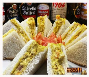 Sandwich pollo al curry