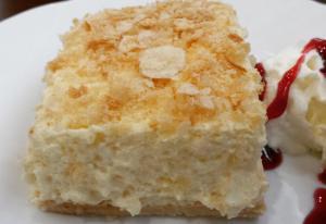 Tarta casera cresmith (hojaldre crema y almendras)