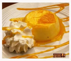 Flan de naranja natural
