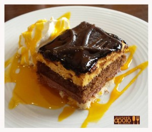 Tarta de chocolate con naranja
