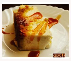 Pastel de queso al ron